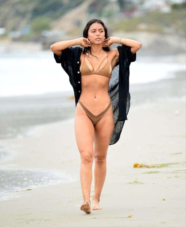 Michelle Hayden On A Bikini Vacation At The Beach In Malibu