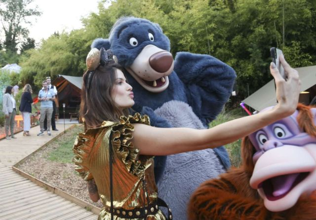 Candice Swanepoel And Isabeli Fontana Enjoying The Exclusive Party At Disneyland in Paris