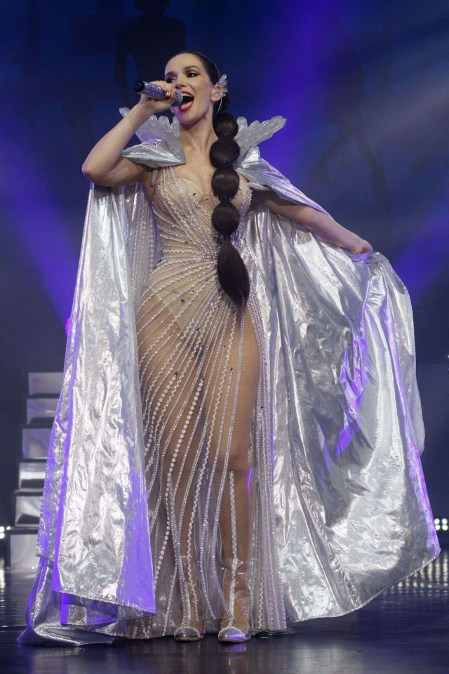 Natalia Oreiro Performs Live During Her Unforgettable Tour At Moscow's Crocus City Hall