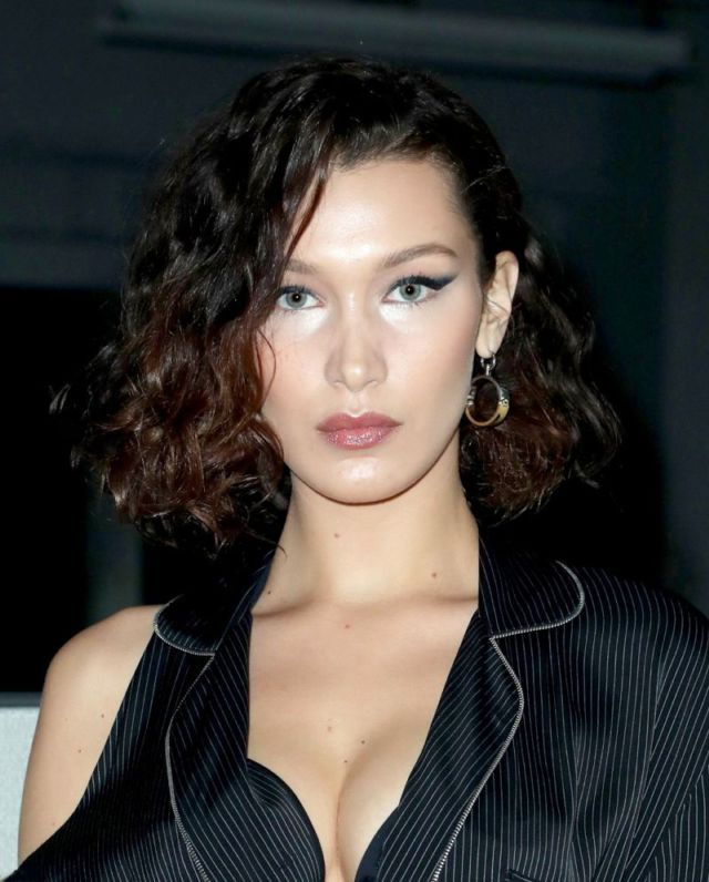 Bella Hadid Attends Alexander Wang Fashion Show In New York