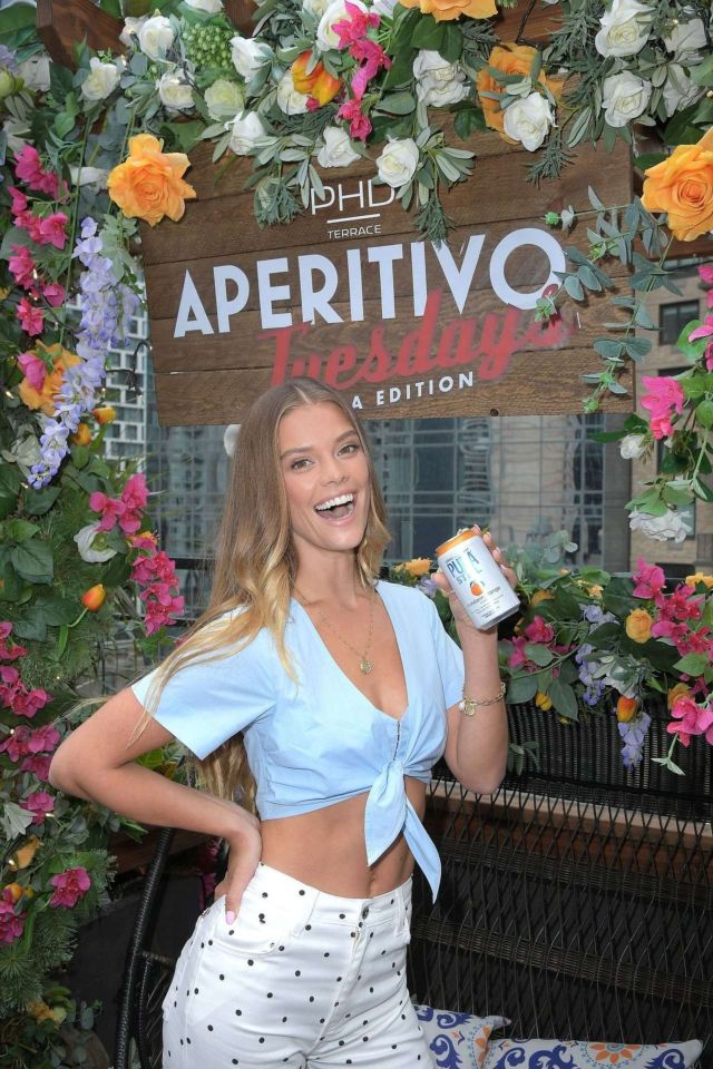 Nina Agdal Sip On Summer With Pura Still In New York
