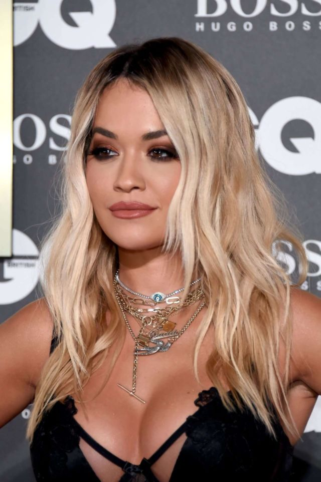 Rita Ora Cleavage Attends GQ Men Of The Year Awards 2019