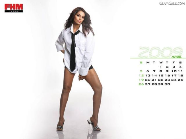 Click to Enlarge - FHM Exclusive Bollywood Calendar 2009