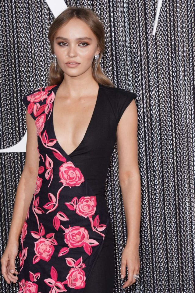 Lily-Rose Depp In A Floral Dress At The Premiere Of 'The King'