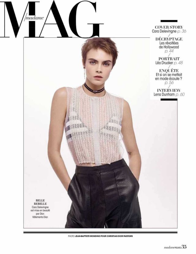 Cara Delevingne Shoots For Madame Figaro Magazine