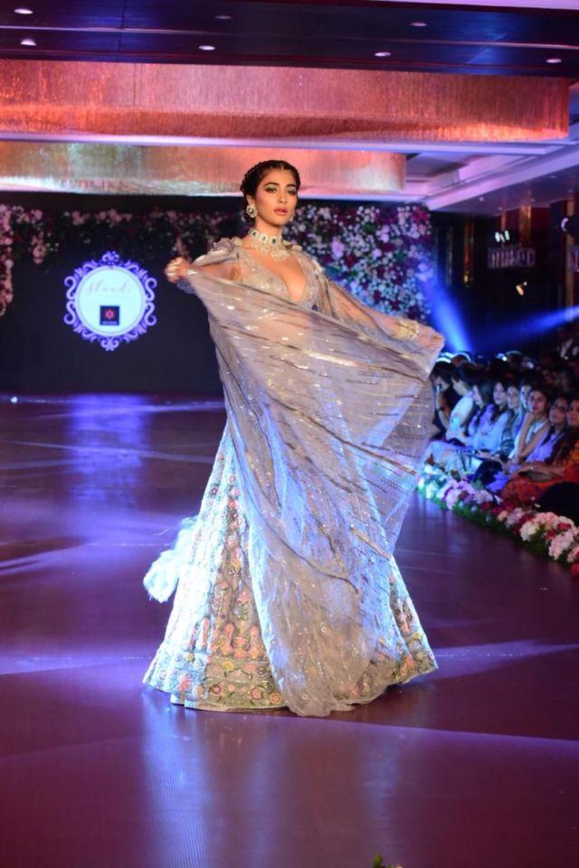 Pooja Hegde Showcasing Wedding Collection On The Ramp