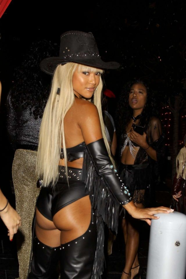 Karrueche Tran At Highlight Room Halloween Party In Hollywood