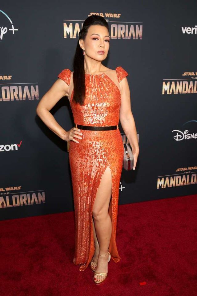 Ming-Na Wen Shines At 'The Mandalorian' Premiere In Los Angeles
