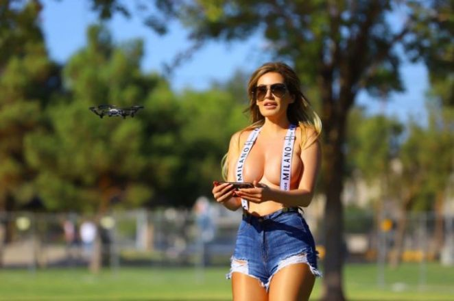 Ana Braga Flying A Drone At The Park In Los Angeles