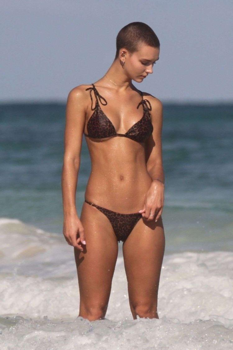 Rachel Cook In A Bikini On The Beach In Tulum