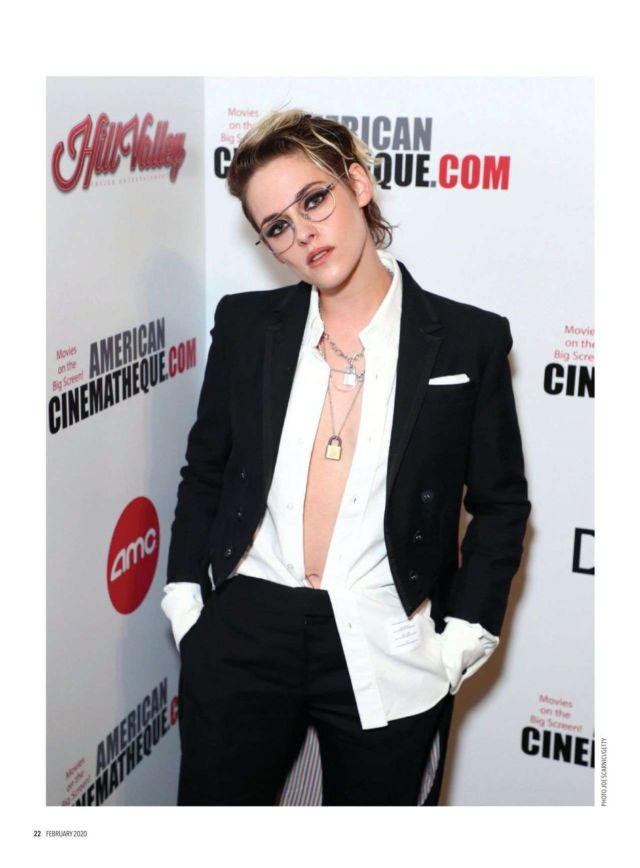 Stylish Kristen Stewart Featured In Diva UK (February 2020)