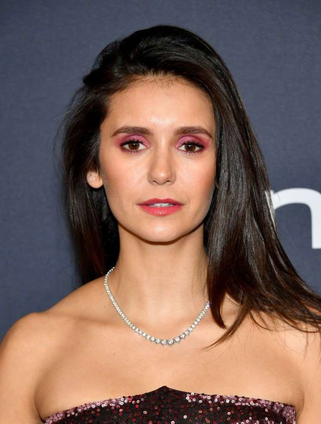 Pretty Nina Dobrev Attends Warner Bros and InStyle Golden Globe After Party