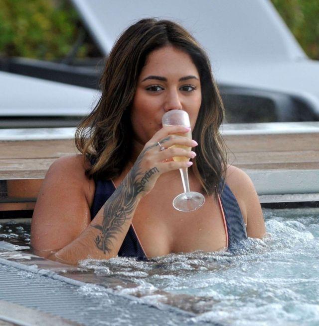 Malin Andersson Taking Spa In Bikini At Carden Park Spa Day