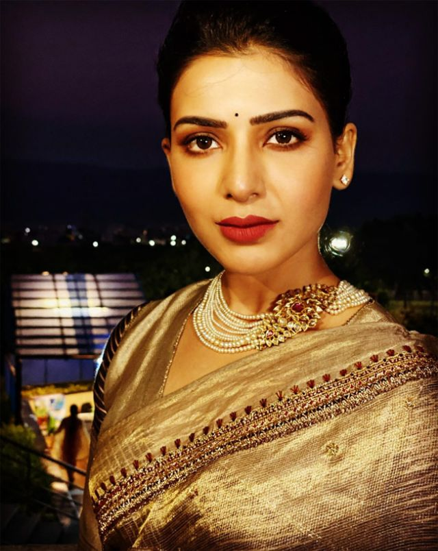 Samantha Akkineni's Breathtaking Pictures In Saree