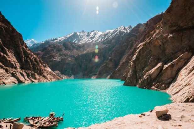 The Beautiful Attabad Lake In North Pakistan
