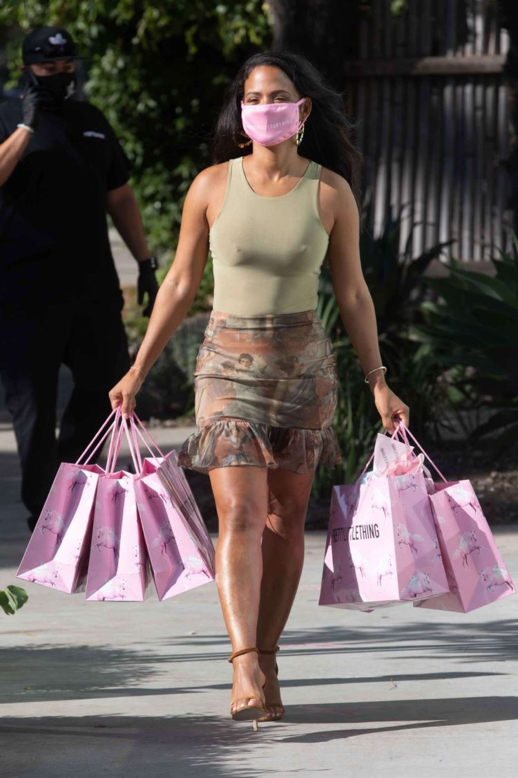 Christina Milian Spotted At PYT Headquarters In West Hollywood