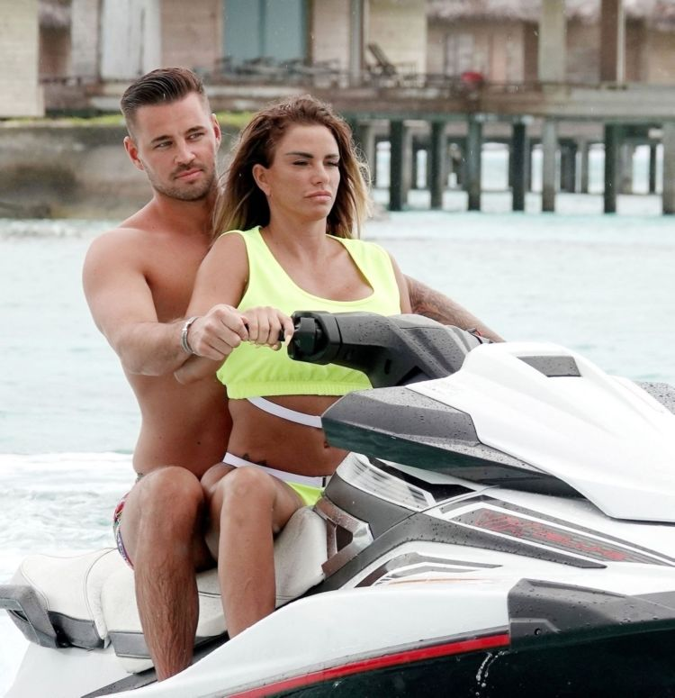 Kate Price And Carl Woods Jet Skiing On Their Holiday In The Maldives