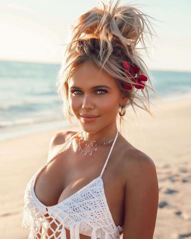 Instagram Model Hilde Osland In A White Bikini