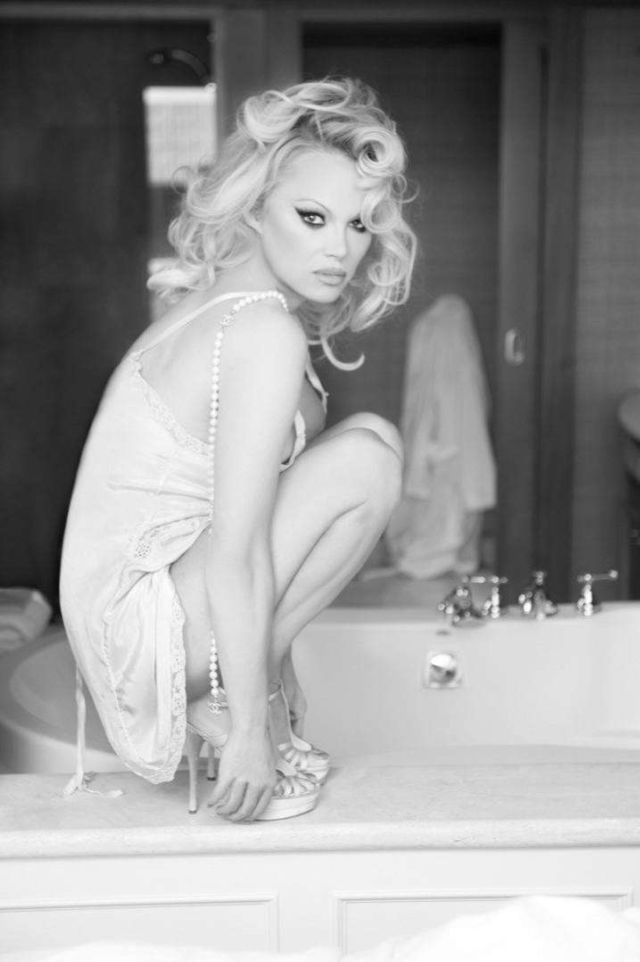 Pamela Anderson's BnW Photoshoot By Gordan Dumka