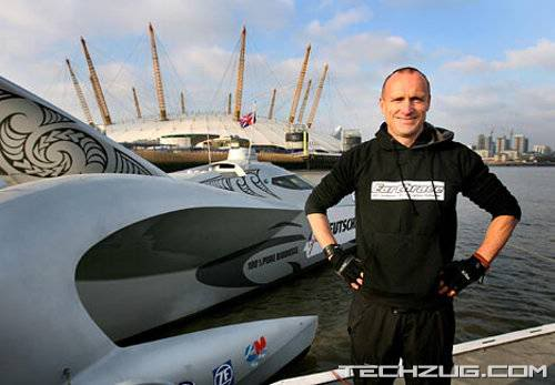 World Speed Record Eco-Boat Powered by Human Fat