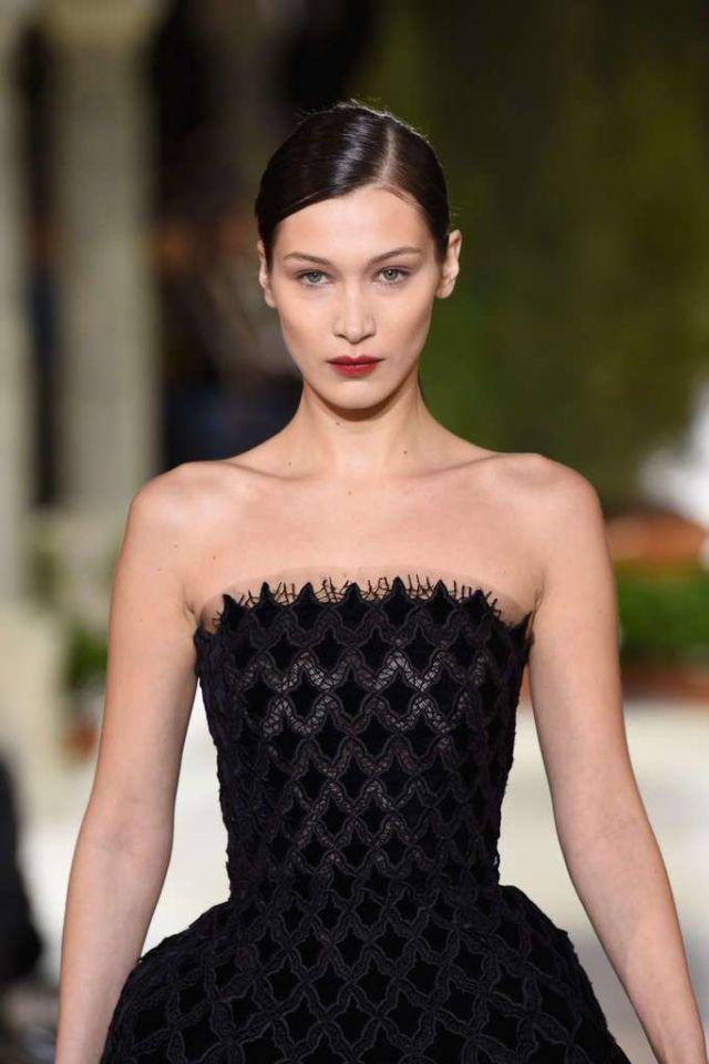 Beautiful Bella Hadid Walks For Oscar De La Renta Show During NY Fashion Week
