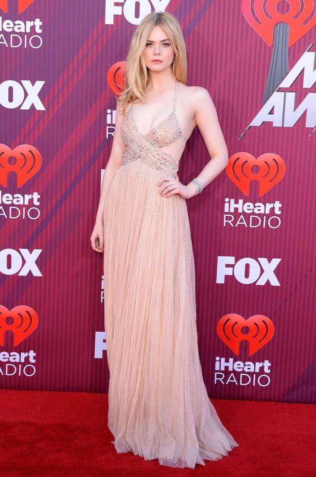 Elle Fanning Attends The iHeartRadio Music Awards 2019 In Los Angeles