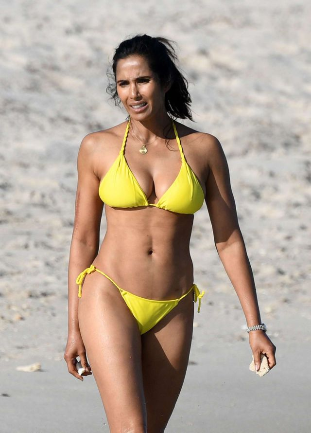 Padma Lakshmi On A Bikini Vacation In Miami