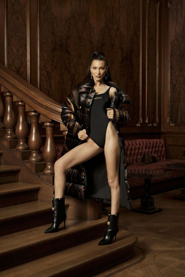 Bella Hadid Shoots For Kith X Versace Campaign 2019