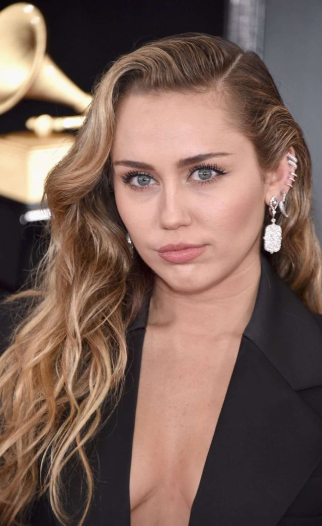 Miley Cyrus Attended The 61st Annual Grammy Awards In LA