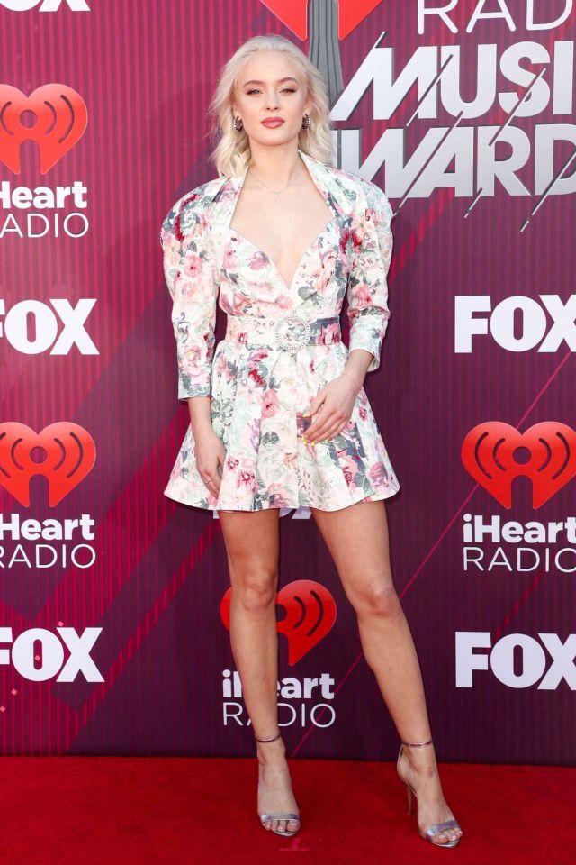 Zara Larsson At The iHeartRadio Music Awards 2019 In LA