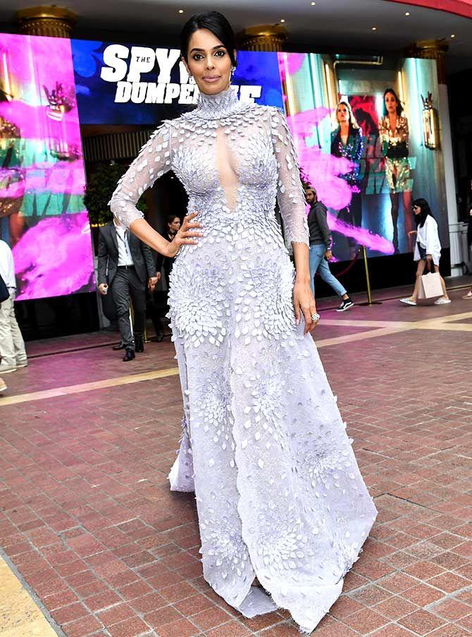 Mallika Sherawat Posing At The Cannes 2018