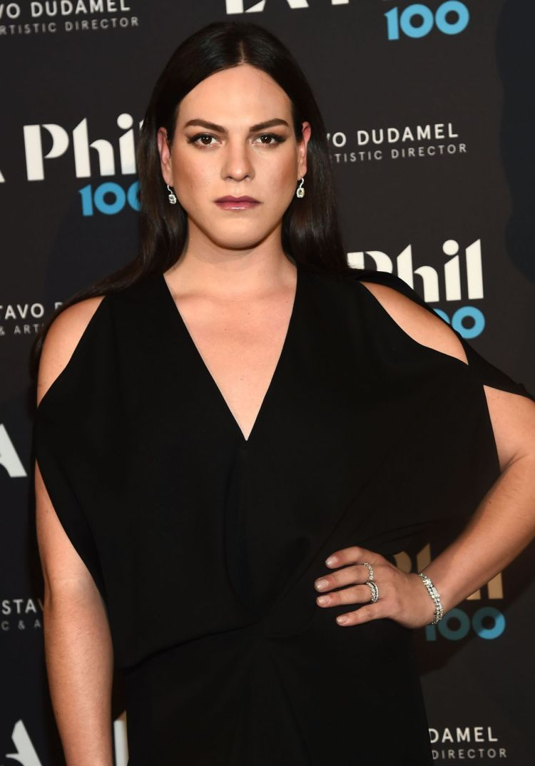 Daniela Vega In Black Gown At The Oscar Concert, Cocktails In LA