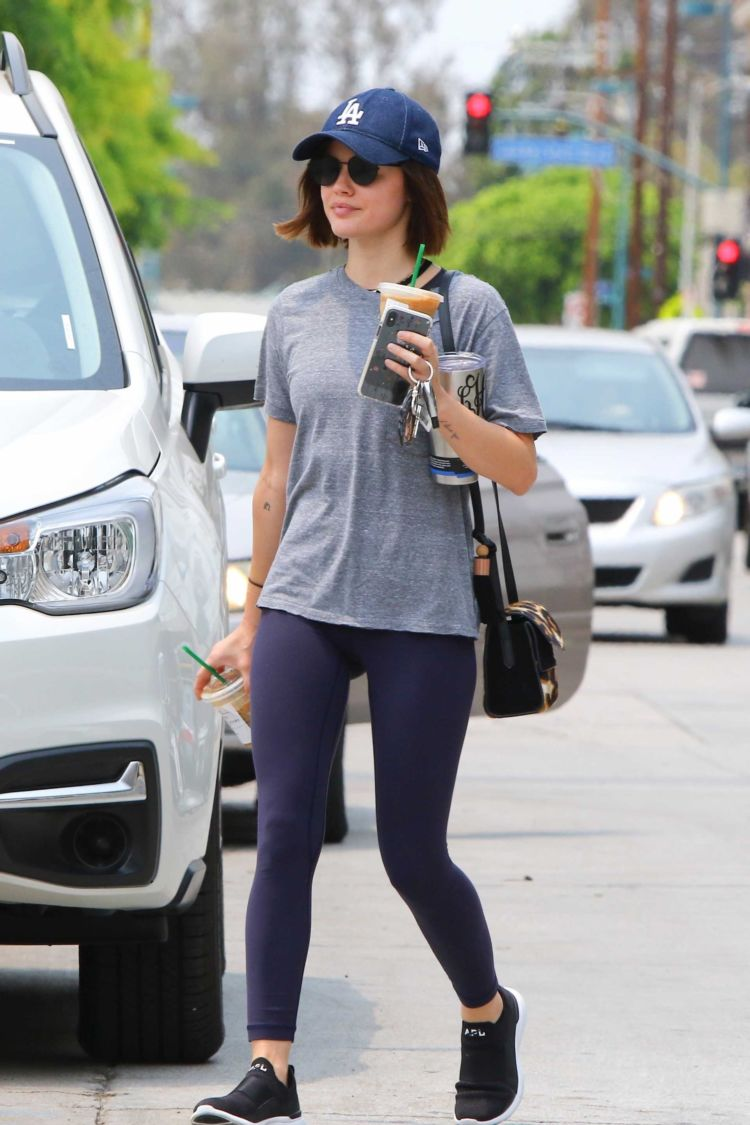 Lucy Hale Arriving At A Gym In Los Angeles