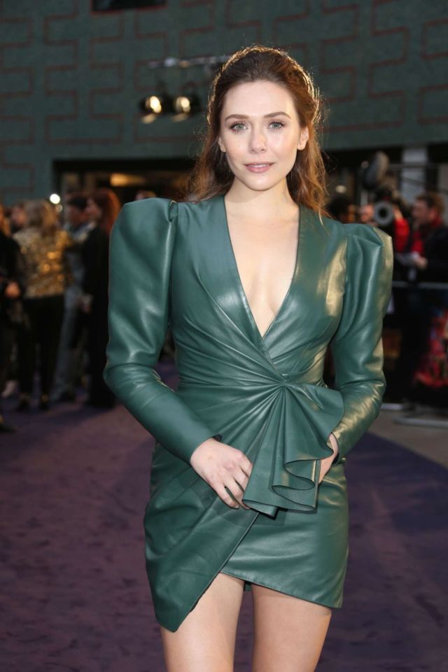 Elizabeth Olsen At The 'Avengers: Infinity War' Fan Preview Party