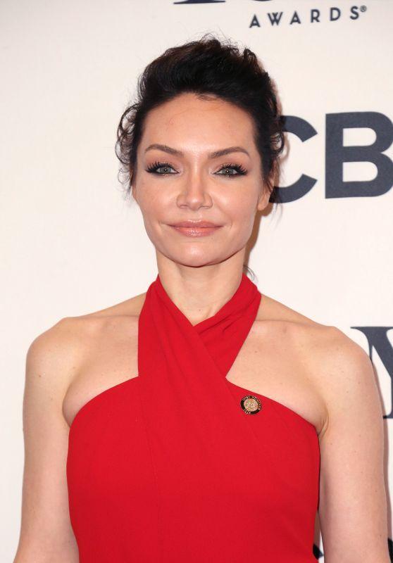 Katrina Lenk In Red Dress At Tony Awards 2018 Nominees Photocall