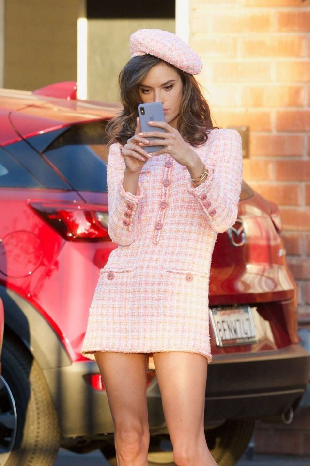 Alessandra Ambrosio Looked Pretty In Pink Dress For A Photoshoot