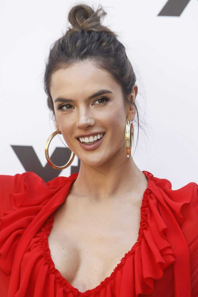 Alessandra Ambrosio Shines In Red At Xti Collection Presentation