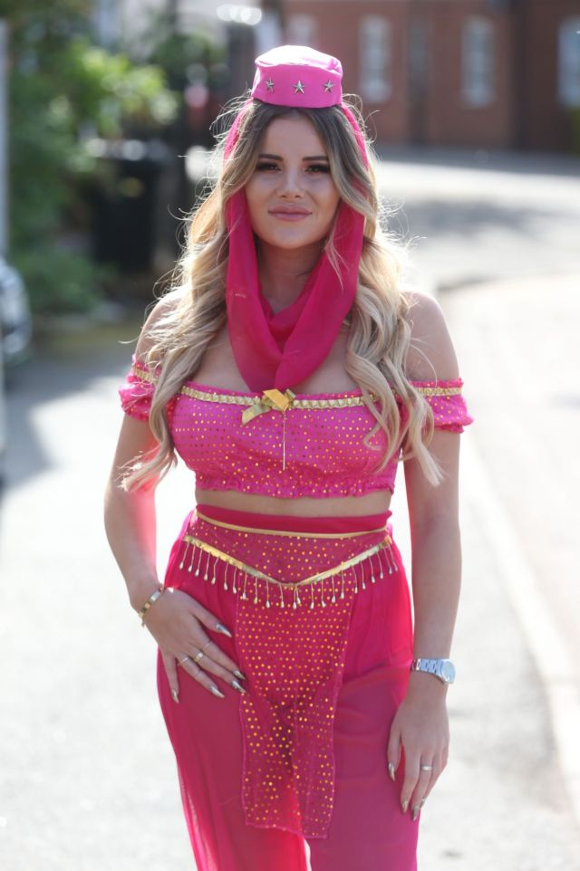 Georgia Kousoulou Stuns At 'The Only Way Is Essex' Filming an Arabian Nights Theme Party