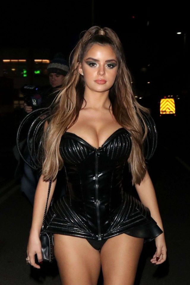 Demi Rose Attends KISS Haunted House Party 2018