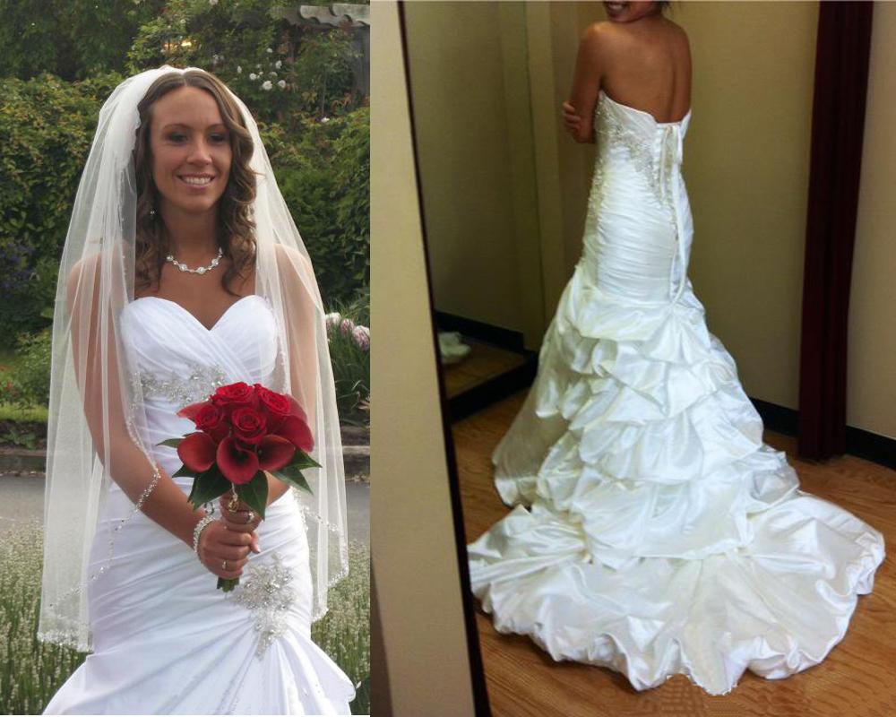 Mermaid Wedding Dresses Luxury Satin Wedding DressesBeaded