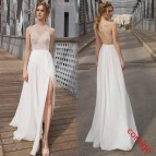 Prom Dress White Sexy Lace