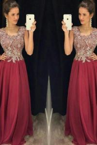 Wine Red Prom Dress on Luulla
