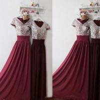 Burgundy Prom Dress,Sexy Prom Evening Formal Dress,Sequin ...