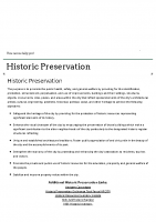 City of Laguna Beach Historic Preservation