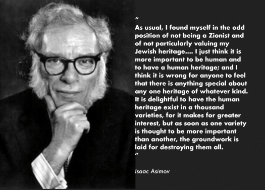 Isaac Asimov about zionism