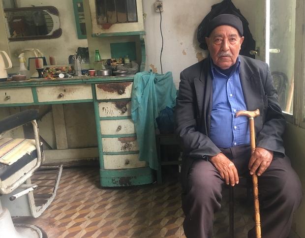 Abu Hani al-Khatib (83) wil graag terugkeren (MEE/Maha Hussaini)