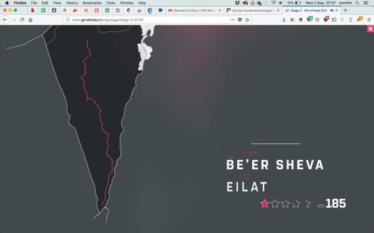 Stage 3 van de Giro voert langs dorpen waar Israël een beleid van etnische zuivering voert.