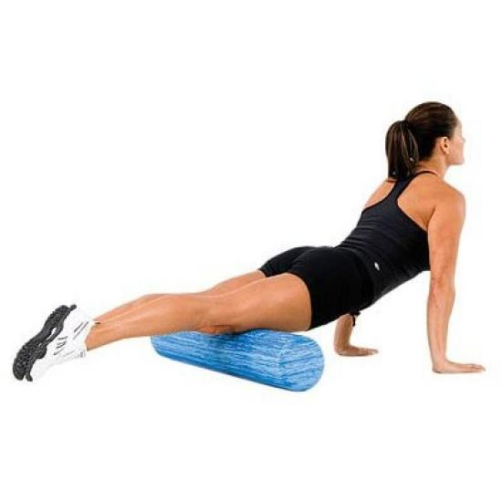 woman using foam roller for myofascial release