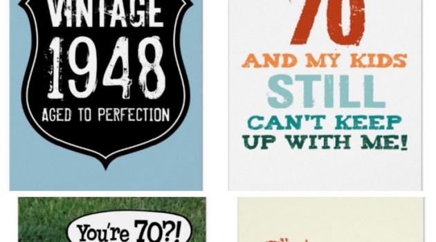 Unique 70th Birthday Card Ideas