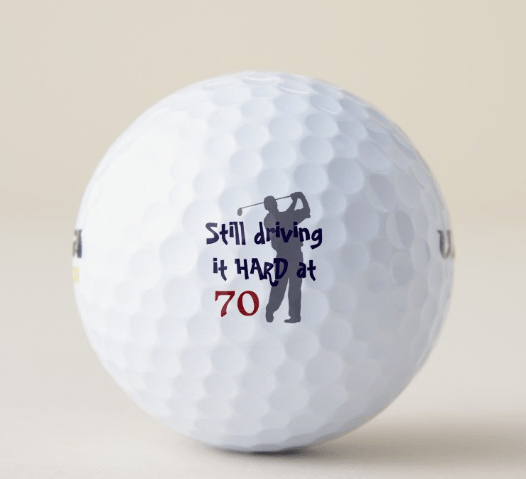 70th Birthday Golf Balls - 70th Birthday Gift Ideas for Men
